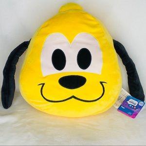 Disney Accents - NWT Disney Pluto Emoji Plush Pillow